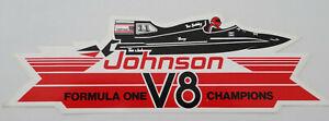 Fan-Aufkleber Johnson Formula One V8 Champions Powerboat Motorboot-Rennen 80er