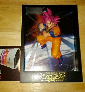 rare japan import dragon ball z battle of gods Goku 3D figure wall mount