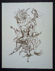 Bele-Bachem-Jungfrauengirlande-Lithographie-1965-handsigniert