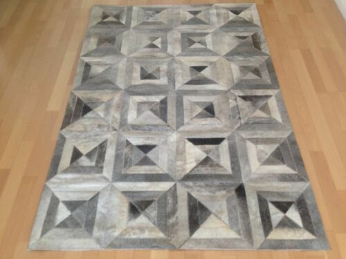 NEW Cowhide Rug Patchwork Cowskin Cow Hide Leather Carpet Made in Argentina.