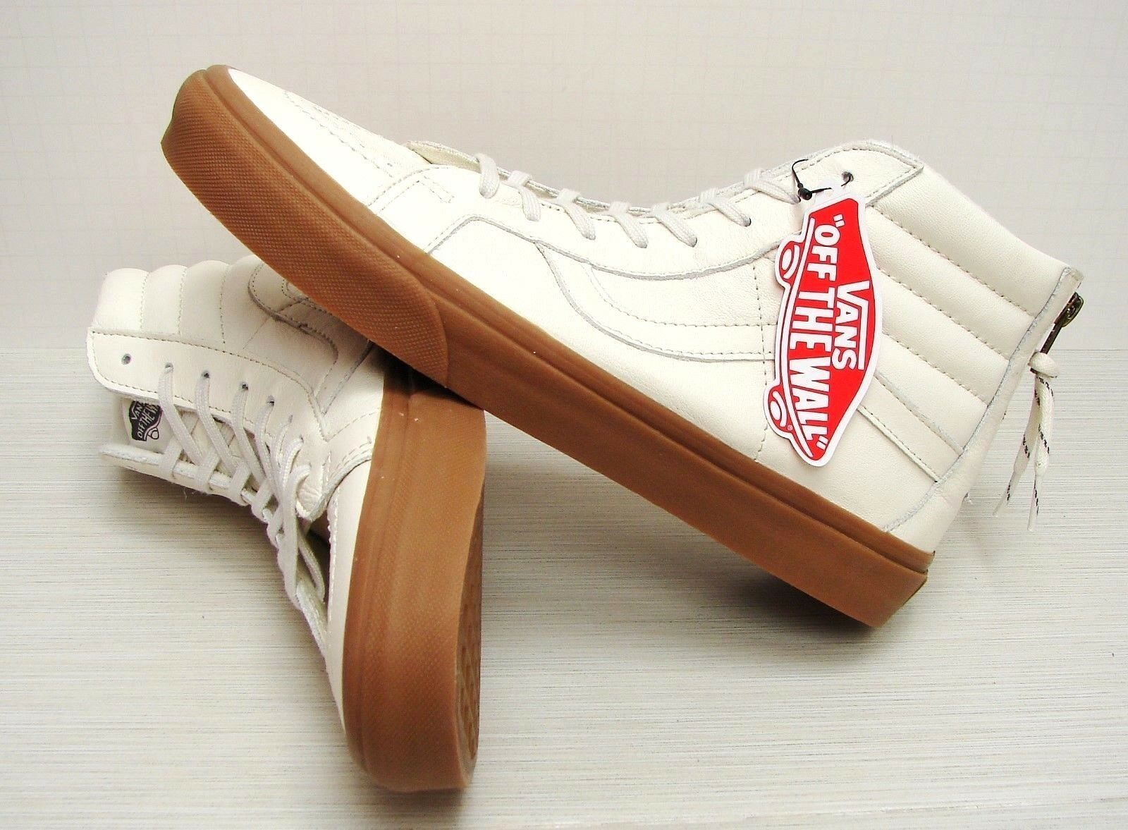 Vans SK8 Hi Reissue Zip Hiking White Gum VN0004KYJSH Mens size 9