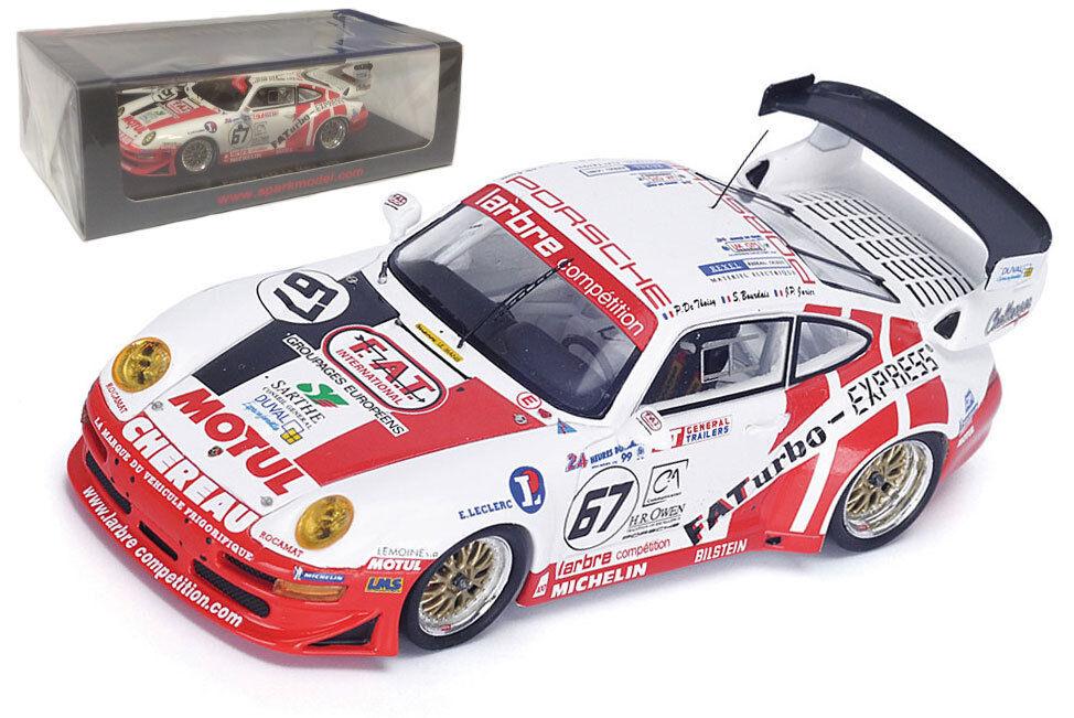 Étincelle S4450 Porsche 911 GT2  67 Le Mans 1999 De Thoisy Jarier Bourdais - 1 43
