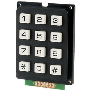 RVFM AK-304-N-BWB Matrixed 3 x 4 Data Keypad
