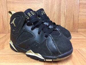 RARE-Nike-Air-Jordan-VII-7-Retro-TD-Golden-Moments-Gold-Black-Sz-7C-304772-030