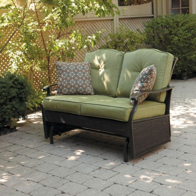 Glider Loveseat Outdoor Furniture Patio Bench Porch Seats 2