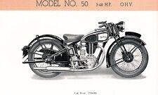 Norton - Motorrad-Programm - Prospekt -  1936 - english -   nl-Versandhandel