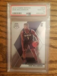 2019 Panini Mosaic #209 Zion Williamson Pelicans RC Rookie PSA 10 GEM MINT 💎