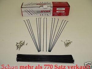80 Messing Speichennippel DT-Swiss 14 mm 2,0 mm Gewinde schwarz