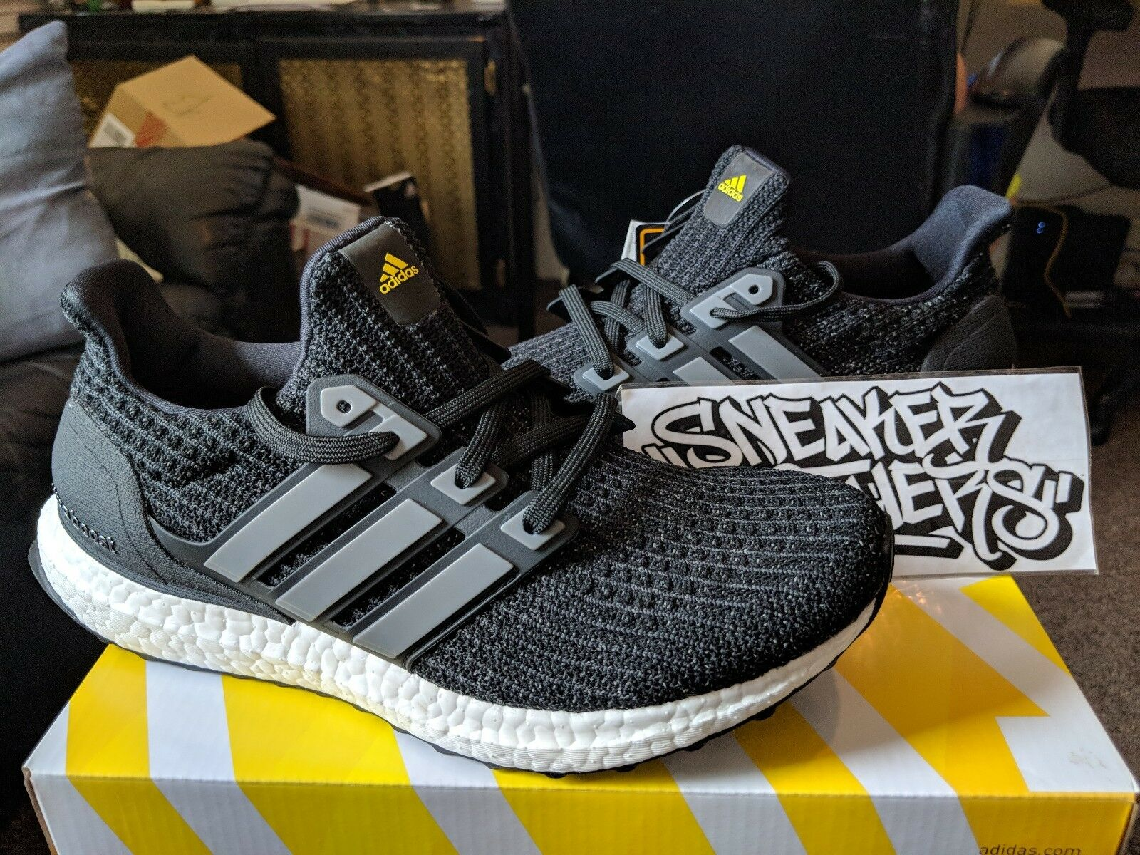 Adidas Ultra Boost M LTD 4.0 5th Anniversary Reflective Black Yellow 3M BB6220