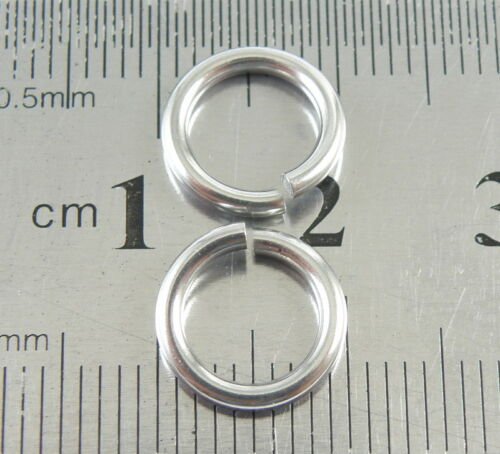 Lot 1.5x10MM Solid Stainless Steel Saw Cut Open Jump Rings DIY Jewelry Findings