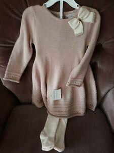 Gorgeous-Boutique-Blush-color-sweater-dress-12-18-months