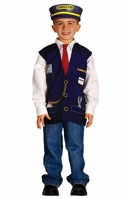 Aeromax My 1st Career Gear Train Conductor Engineer Costume Vest Tickets Caboose