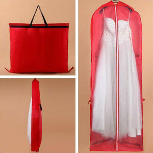Details About Dust Cover Wedding Dress Bag Garment Bags For Gowns Storage Travel Extra Large