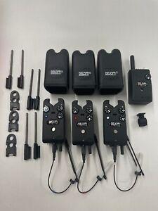 Delkim RX Pro Bite Alarms x3 and Receiver