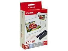 Ink /& Label Set KC-18IF Black//Tri-Color in Retail Packaging Canon 7741A001