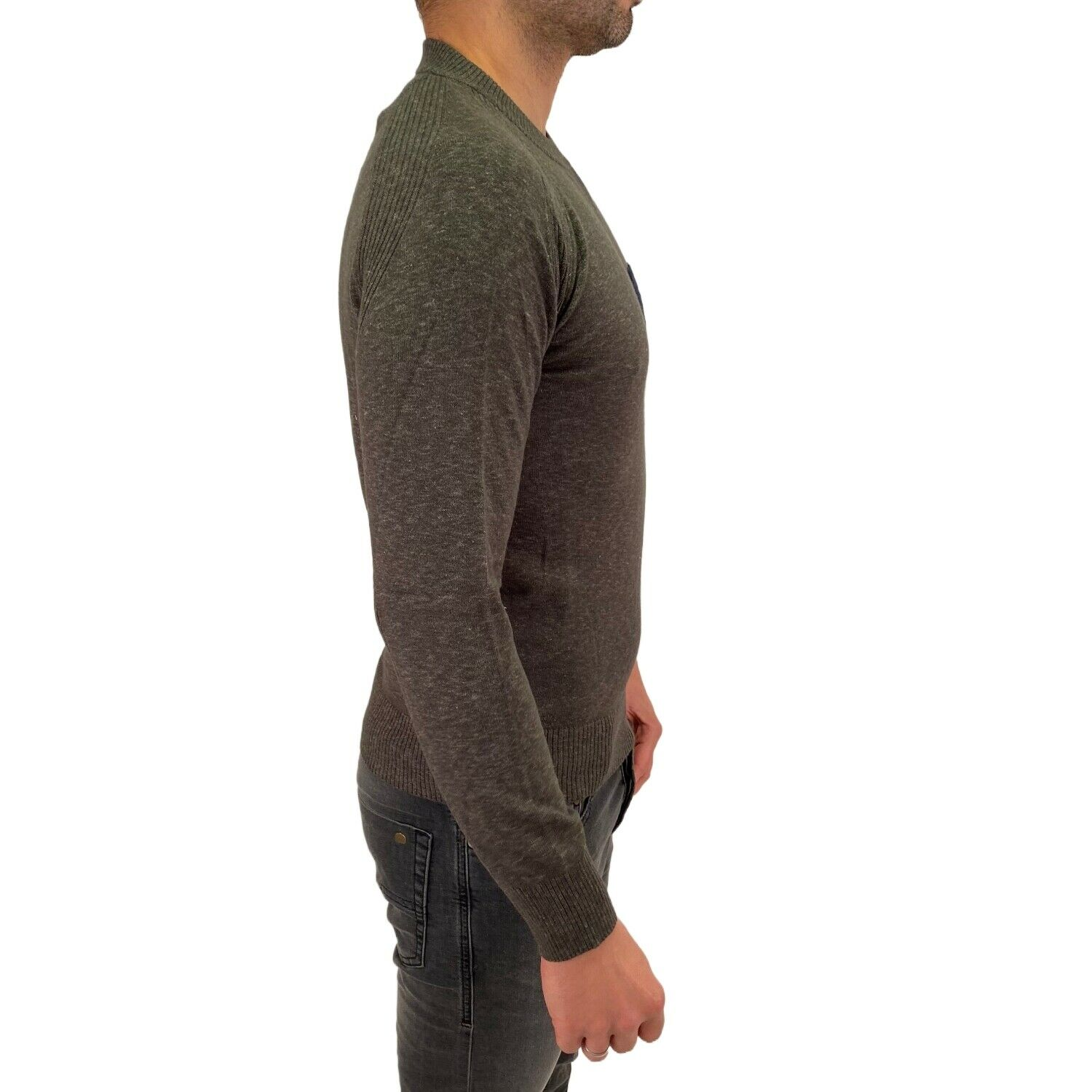 Sweater Diesel K-TOUCH 12GG RIALK 51F Green Cotton Pocket RRP160€