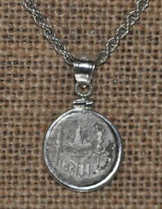 Mark Antony Legion II Authentic Denarius Coin 925 Solid Sterling Silver Necklace
