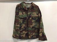 Usgi Us Military Woodland Bdu Top Coat Jacket Warm Weather Size Small X-long
