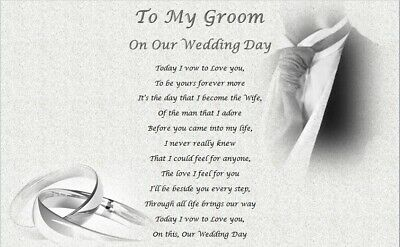 My Groom On Our Wedding Day Personalised Husband Gift Gift For