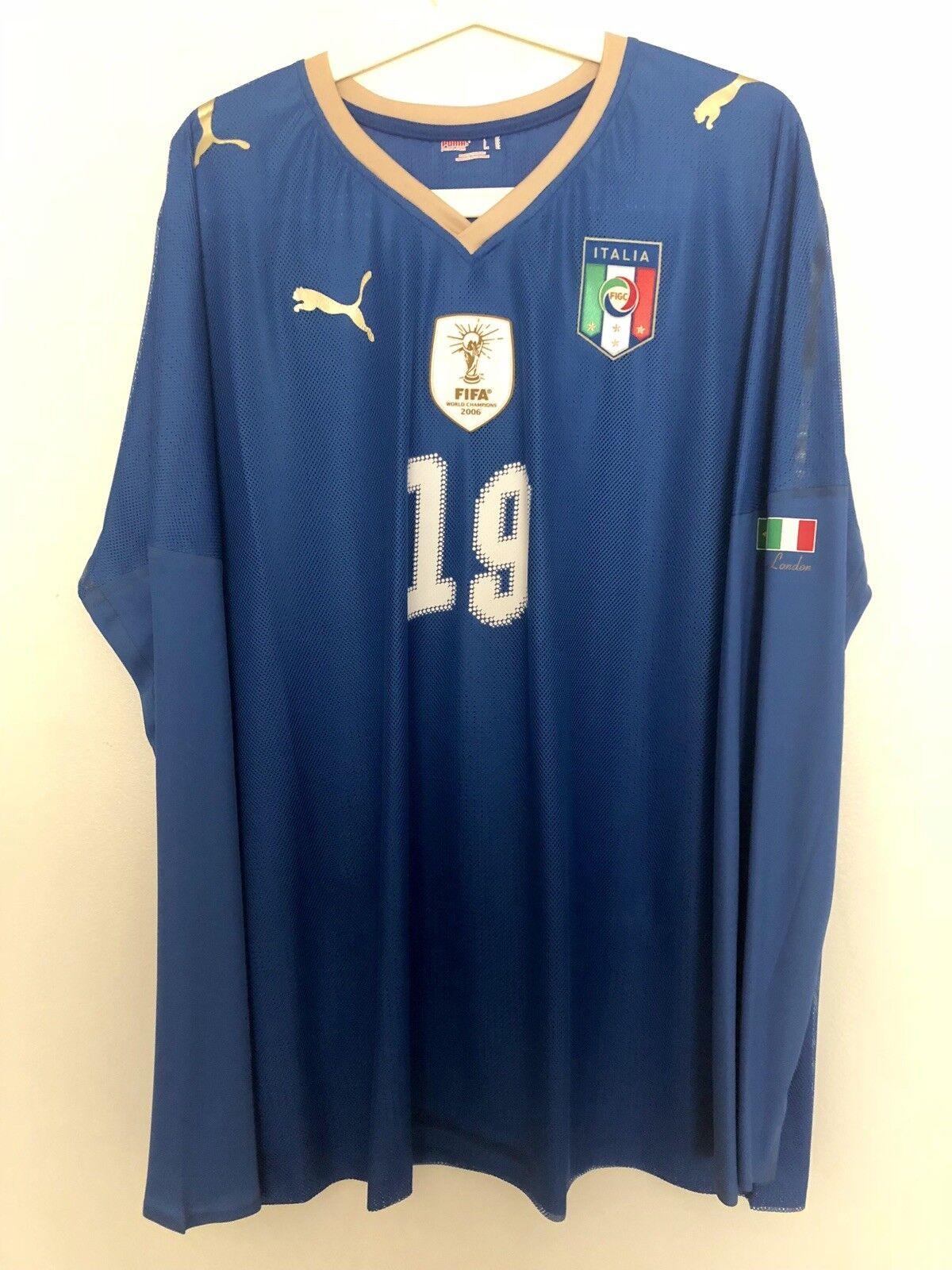 Reala Raul, 2009 Italia vs Brasil Match problema un Usado Camisa Raro Italia Maglia