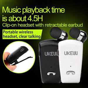 104622c8fdf UK-890 Bluetooth 4.1 Wireless Stereo Headphone Clip Type Retractable ...