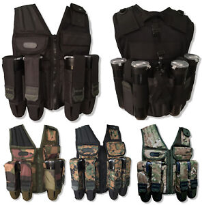 Paintball Tactical Vest Den-OPS Assault Harnais 10 pot Pod Support à Distance étui-afficher le titre d`origine 9leCQYoX-07141355-556268692