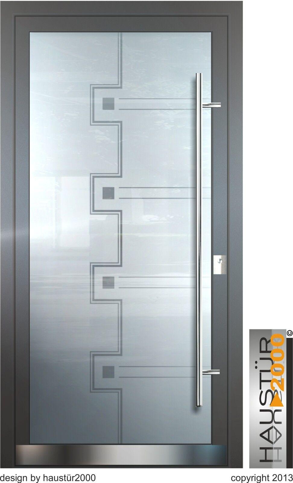 Aluminium Haustür Ganzglasfüllung Alu Haustüren nach Maß Mod. HT 5471 . 5 GLA