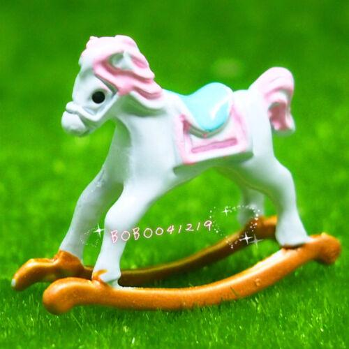 Dollhouse Miniature Toy Super Mini Metal Horse Length 2.9cm BM78