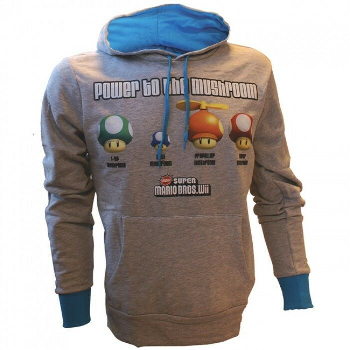 SUPER MARIO POWER BROS - POWER MARIO TO THE MUSHROOM HOODIE - FELPA   M - ORIGINAL d21b1d