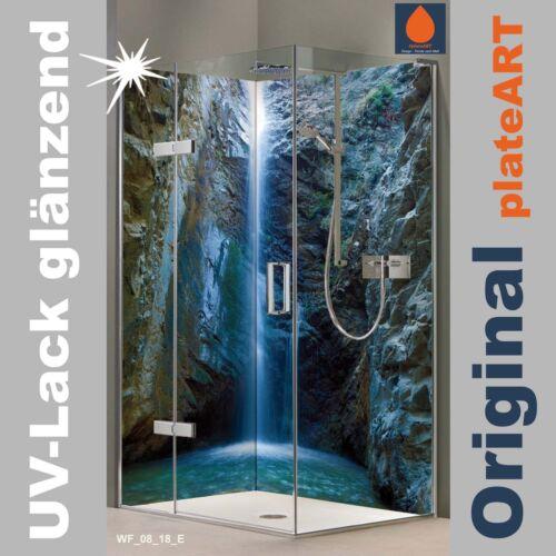 TILE REPLACEMENT Corner SHOWER BACK WALL REAR PANEL SHOWER ALUMINIUM chantara Waterfall