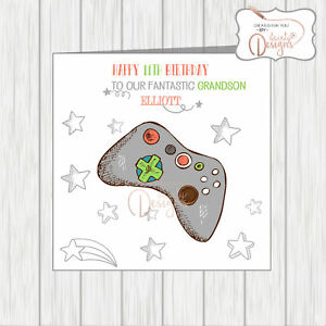 Personalised Any Name Age Happy Birthday Card Gaming Online Console Games Xbox Ebay