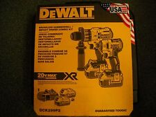 Dewalt DCK299P2 20V MAX XR Li-Ion Brushless Hammer drill & Impact Driver Kit NEW