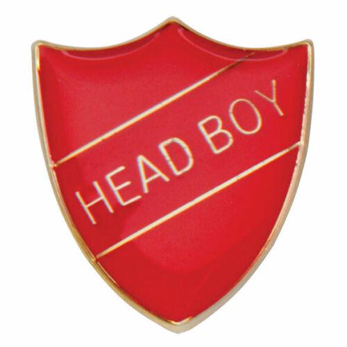 HEAD BOY enamel badges in RED,BLUE,GREEN OR YELLOW Brooch Schools