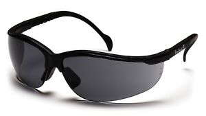 PYRAMEX SAFETY SB1820S Venture II Safety Glasses Gray Lens, Black Frame