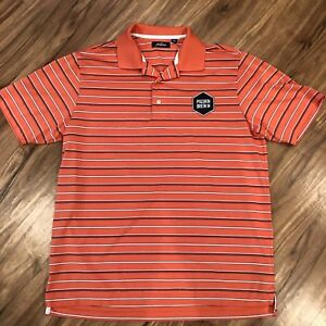 Clothing, Shoes & Accessories Jack Nicklaus L Pigskin Brew Co Patch Orange Polo