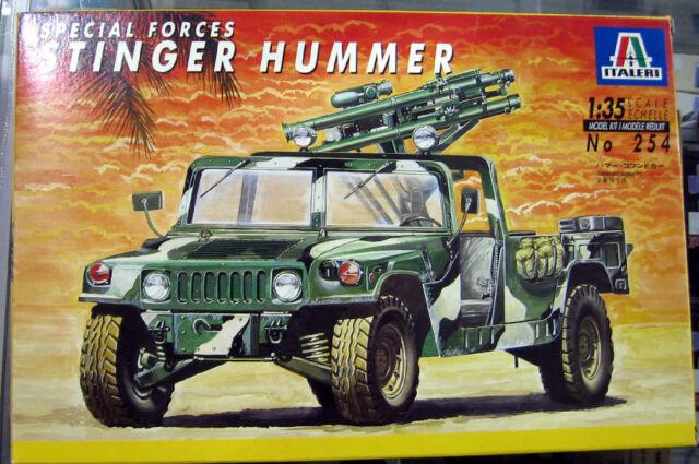 1 35 Scale Military Model Kit Italeri 254 Special Forces Stinger Hummer  Truck