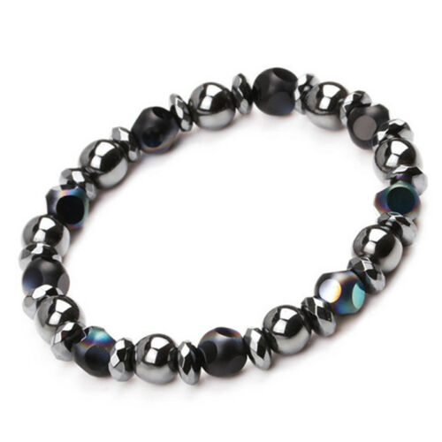 ChakraHematite StoneBead Stretch Bracelet Healing Magnetic Therapy Weight Loss#*