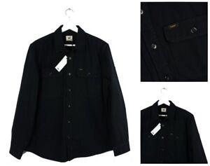 Tessuto Lavoro xl m Camicia Da l Regular S giacca Giacca Lee Nera Nuovo Pesante XqCfRP