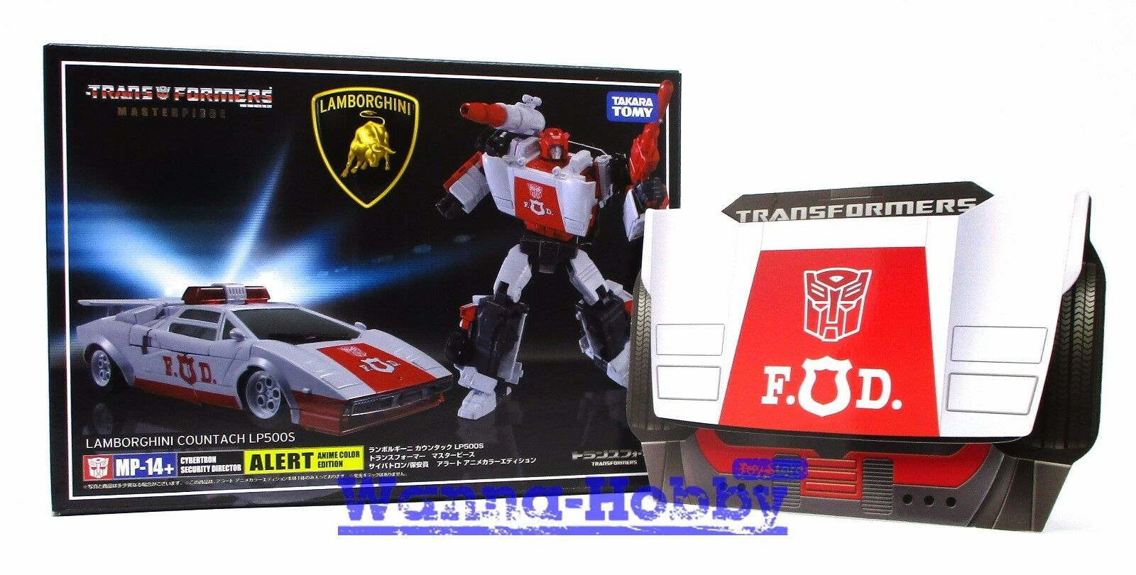 『W。H』MISB 75215 TRANSFORMERS MASTER PIECE MP-14+ Red Alert Special Anime + coin