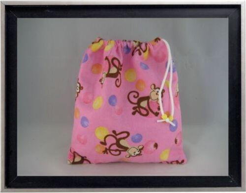 Gymnastics Leotard Grip Bags Monkeys with Dots Gymnast Birthday Goody Bag