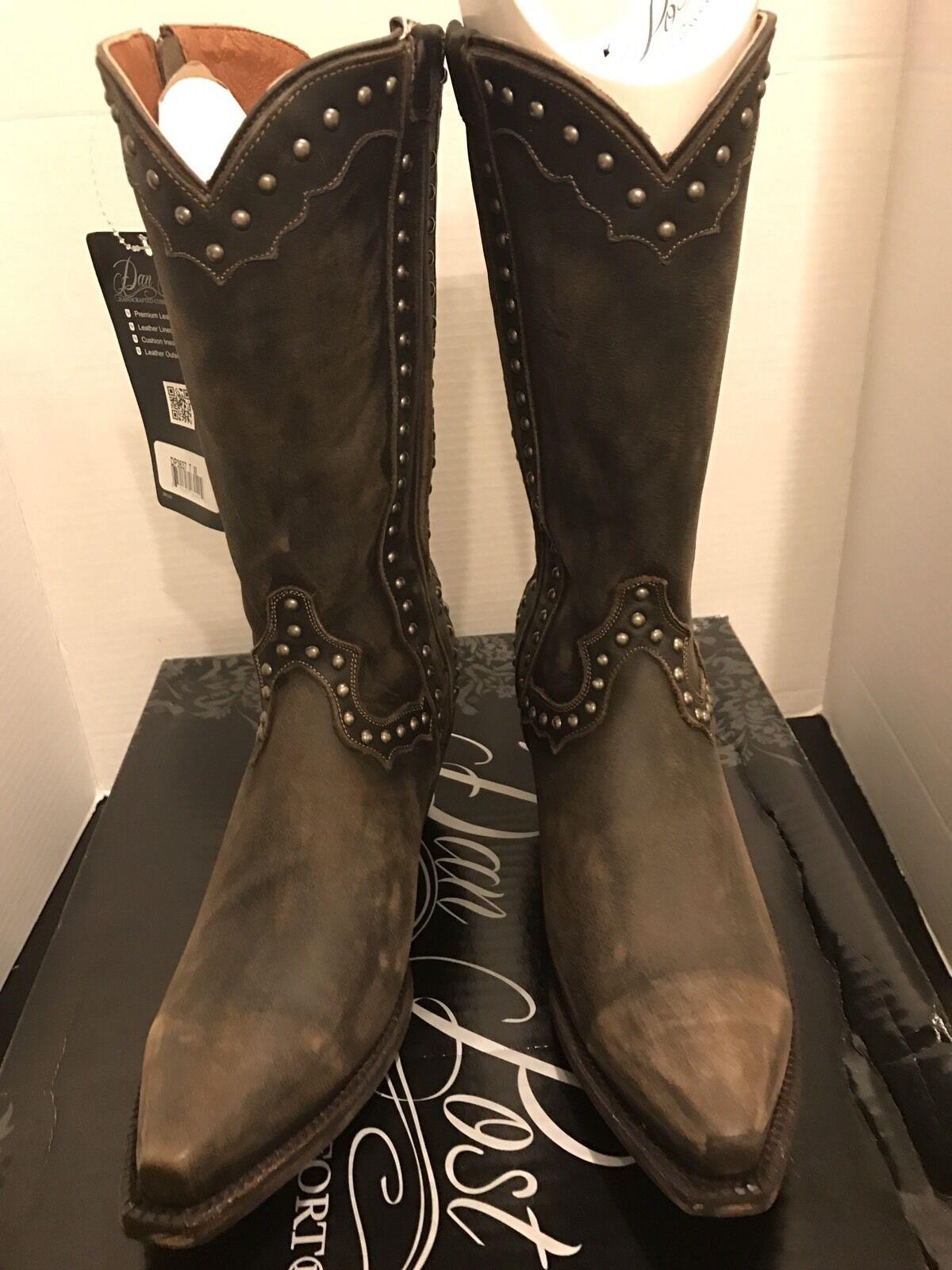 autorización oficial Dan Dan Dan Post occidental de Cuero Tachonado botas  tienda de bajo costo