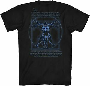 Vitruvian-Man-Venom-Front-Back-Avengers-Tee-Adult-Tshirt-Graphic-Men-039-s-T-Shirt