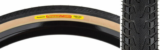 Panaracer Pasela Tire 700 x 28mm Amber Sidewall Wire Bead