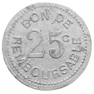 COMOROS-25-CENTIMES-ND-1915-XF-SOCIETE-ANANYMOUS