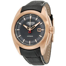 Alpina Nightlife Club Automatic Black Dial Leather Strap Men's Watch AL525B4RC4