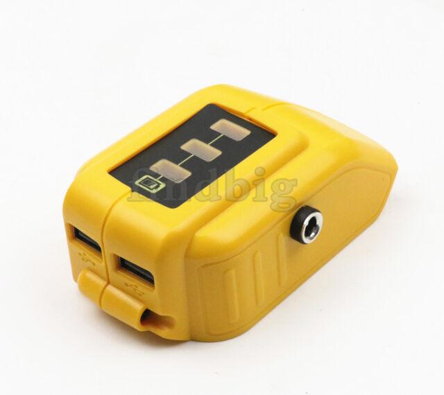 USB Charging Converter For Dewalt DCB091 Li-ion Battery 12V DC Output