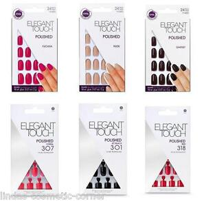 Elegant-Touch-Polished-Nails-With-Glue-Assorted-Shades-To-Choose-From