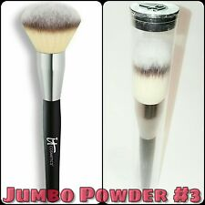NEW iT Cosmetics Heavenly Luxe #3 Mega Jumbo Powder Makeup Brush Sealed Tube