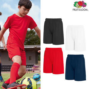Fruit-of-the-Loom-Kids-Performance-Shorts-Boys-Girls-Sports-P-E-gym-Polyester