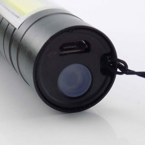 LED Q5 COB Flashlight Torches Work Light USB Rechargeable Lamp Lighting Camping